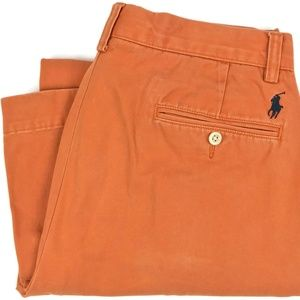 Ralph Lauren Preston Pant Orange Chinos Size 30x27